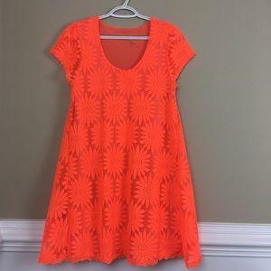 Kimchi Blue Neon Orange Dress M